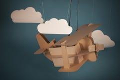 Kartonvliegtuig Royalty-vrije Stock Foto's