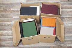 Kartony pełno książki Obraz Royalty Free