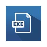 Kartoteka formatów ikona EXE Obrazy Royalty Free