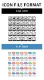 Kartoteka formata ikony set Kartoteka format w mieszkanie stylu Kartoteka format w kreskowym stylu ilustracja wektor