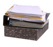 kartoteka papiery Fotografia Stock