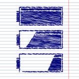 Kartoteki ściągania znaka set Obrazy Stock