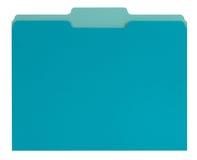 Kartoteki błękitny falcówka Zdjęcie Royalty Free