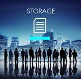 Kartoteki bazy danych chmury sieci pojęcie Zdjęcia Stock