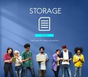 Kartoteki bazy danych chmury sieci pojęcie Obraz Stock