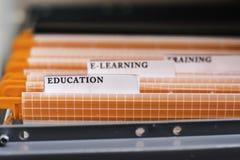 Kartoteki falcówki Przylepiająca etykietkę edukacja Obraz Stock