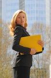 kartoteki kolor żółty Zdjęcie Stock