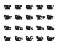 Kartoteki n falcówki ikony Zdjęcie Stock