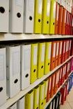 kartoteki organizaci pozycja zdjęcia stock