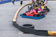 Karts en el parque de atracciones Foto de archivo