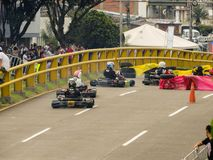 Karts and enjoy the cup gogo stock image