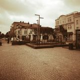 Kartuzy city center. Artistic look in vintage vivid colours. Royalty Free Stock Photo