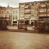 Kartuzy city center. Artistic look in vintage vivid colours. Royalty Free Stock Image