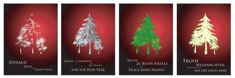 karty 2011 2012 bożego narodzenia Fotografia Royalty Free