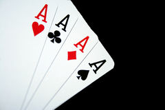 Karty cztery as Zdjęcie Stock