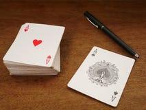 Karty do gry i uprawiać hazard, grzebak karta 05 zdjęcie stock