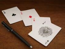Karty do gry i uprawiać hazard, grzebak karta 05 fotografia stock