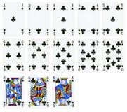 Karty do gry kluby nadają się, odizolowywali na bielu, fotografia royalty free