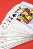 karty grać Fotografia Stock