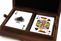 karty grać Zdjęcia Stock