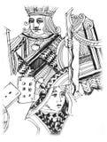 Karty, kasyno, hazard ilustracja zdjęcie royalty free