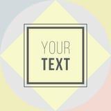 karty kolorowego Nowożytny abstrakcjonistyczny projekta plakat, pokrywa, karciany projekt Modny geometryczny Retro stylowa tekstu Fotografia Stock