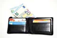 karty kredytują pieniądze portfel Fotografia Stock