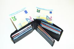 karty kredytują pieniądze portfel Obraz Royalty Free