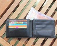 karty kredytują pieniądze portfel Obrazy Royalty Free