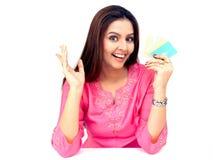 karty kredytują kobiety Obrazy Royalty Free