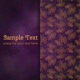 Karty lub zaproszenia z kwiatów mandala wzorem Fotografia Royalty Free