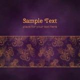 Karty lub zaproszenia z kwiatów mandala wzorem Obrazy Royalty Free