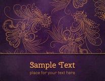 Karty lub zaproszenia z kwiatów mandala wzorem Zdjęcia Stock
