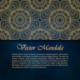 Karty lub zaproszenia z mandala wzorem Zdjęcie Stock
