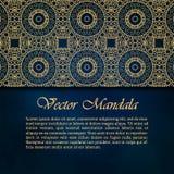 Karty lub zaproszenia z mandala wzorem Zdjęcia Royalty Free