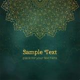 Karty lub zaproszenia z mandala wzorem Zdjęcia Stock