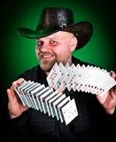 karty obsługują bawić się tasowania zręcznie Obraz Royalty Free