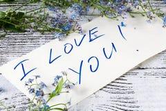karty poboru ślub ilustracyjny Wakacyjny tło z kwiatami zapomina ja nie Obraz Stock