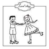 karty poboru ślub ilustracyjny Zdjęcia Royalty Free