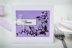 karty poboru ślub ilustracyjny Zdjęcia Stock