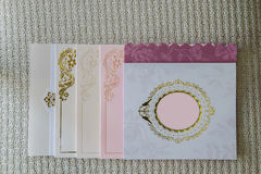 karty poboru ślub ilustracyjny obrazy royalty free