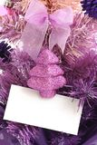 karty pozdrowienia drzewo bożego narodzenie Obrazy Royalty Free
