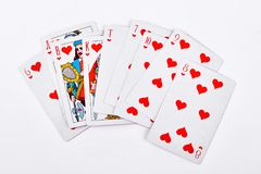 karty rumienią się bawić się królewski Zdjęcia Royalty Free
