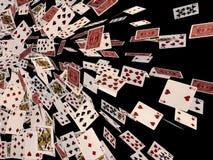 karty spłukuje grać w pokera królewskie Zdjęcia Royalty Free