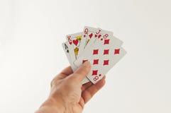 karty spłukuje grać w pokera królewskie Obraz Royalty Free