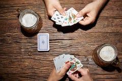 karty spłukuje grać w pokera królewskie Fotografia Royalty Free