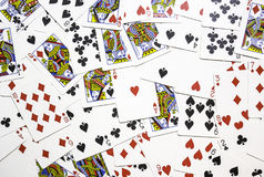 karty spłukuje grać w pokera królewskie Obrazy Stock