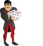 karty target999_1_ mężczyzna bawić się Zdjęcia Royalty Free