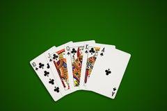 karty target3886_1_ ścieżka zielonego grzebaka Obrazy Stock