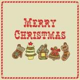 karty też świąteczne wektora projektów zimy miodownik Royalty Ilustracja